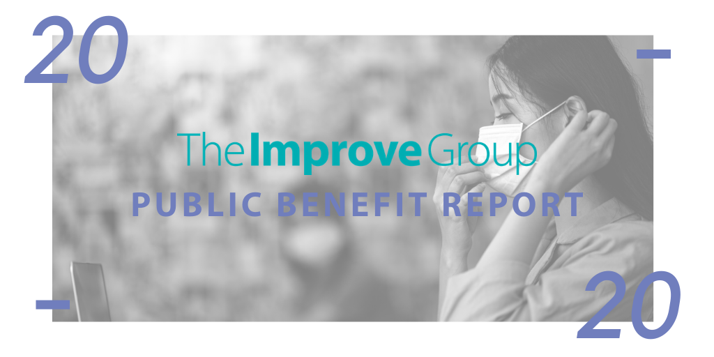 """Image that says """"The Improve Group Public Benefit Report 2020"""""""