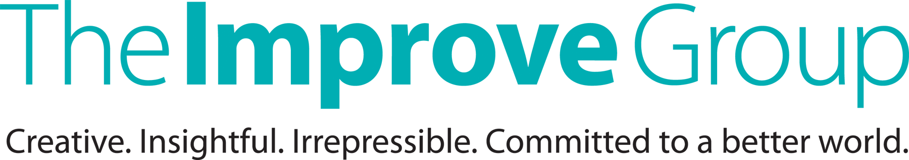 The Improve Group Logo with Tagline: Creative. Insightful. Irrepressible. Committed to a Better World.
