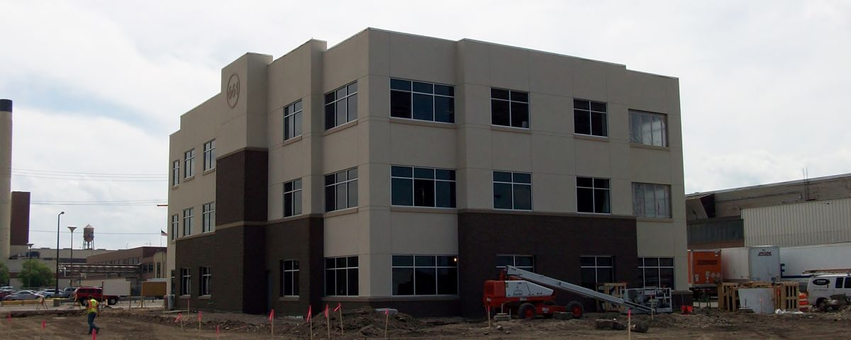 Image of The Improve Group's new office building, currently being constructed