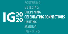 "A special graphic commemorating the Improve Group's 20th Anniversary, featuring the IG2020 logo and the words ""Celebrating Connections"""