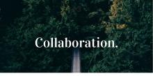Graphic header that includes one word: Collaboration.