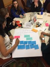 Image of The Improve Group's Research Analysts Facilitating a Theory of Change Workshop
