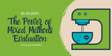 Graphic that includes the title and an image of a mixer combing qualitative and quantitative data together.