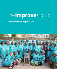 Cover image of The Improve Group's 2017 Public Benefit Report