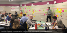 Nick Stilp, Associate Consultant at The Improve Group, facilitating a Process Mapping session