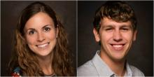 Headshots of Sara McGarraugh and Nick Stilp